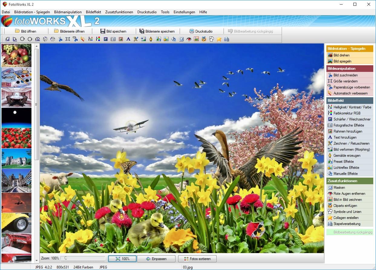 Fotobearbeitung mit einem Fotobearbeitungsprogramm